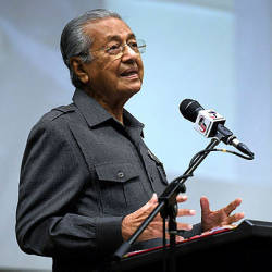 Prime Minister Tun Dr Mahathir Mohamad speaking at the second session of his meeting with senior government officials for 2019 in Putrajaya Corporation Complex today. — Bernama