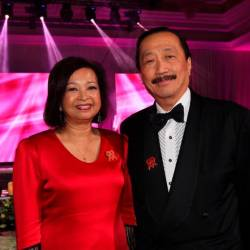 Malaysian AIDS Foundation patron Datin Paduka Marina Mahathir and Berjaya Corporation Berhad Founder Tan Sri Vincent Tan. - Sunpix by Ashraf Shamsul