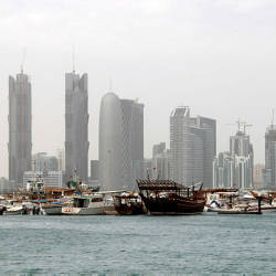 The Doha skyline. — Reuters