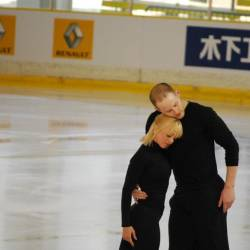 John Coughlin (R) with his figure skating partner Caydee Denney. — Pix from Facebook
