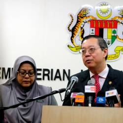 Finance Minister Lim Guan Eng speaks at a press conference at the Ministry of Finance today. - Bernama