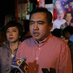 Negri Sembilan DAP chairman Anthony Loke Siew Fook speaks to the media afterattending the Tanglung Festival event in Sungai Ujung Walk last night. - Bernama
