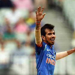 India's Yuzvendra Chahal celebrates after dismissing Australia's Peter Handscomb during the third one-day international cricket match between Australia and India at the Melbourne Cricket Ground. — AFP