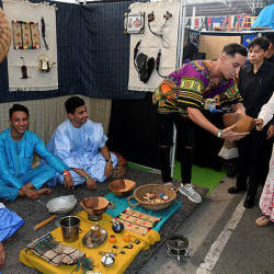 Tun Dr Siti Hasmah Mohd Ali during the Malaysia's International Cultural Festival held at Limkokwing University today. — Bernama
