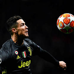 Juventus' Portuguese forward Cristiano Ronaldo controls the ball during the UEFA Champions League round of 16 first leg football match between Club Atletico de Madrid and Juventus FC at the Wanda Metropolitan stadium — AFP