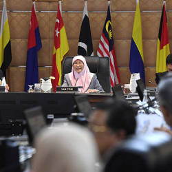 Deputy Prime Minister Datuk Seri Dr Wan Azizah Wan Ismail chairs the National Cost of Living Action Council at Perdana Putra, Putrajaya on Feb 15, 2019. — Bernama