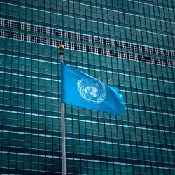 his file photo taken on September 19, 2017 shows a view of the United Nations headquarters during the 72nd session of the United Nations General Assembly in New York. — AFP