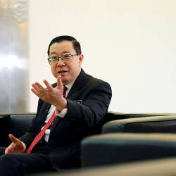 Finance Minister Lim Guan Eng speaks during an interview with Reuters in Putrajaya, Malaysia, July 22, 2019. — Reuters