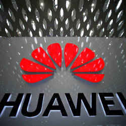 A Huawei company logo is pictured at the Shenzhen International Airport in Shenzhen, Guangdong province, China July 22, 2019. — Reuters