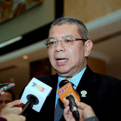 Filepix taken on June 22 shows Foreign Minister, Datuk Saifuddin Abdullah during a press conference at Shangri La Hotel. — Bernama