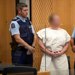 File photo of Brenton Tarrant, in the dock during his appearance in the Christchurch District Court, New Zealand March 16, 2019. — Reuters