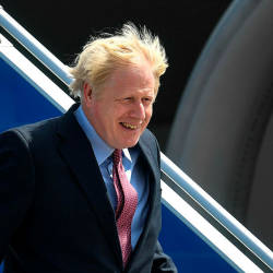 Johnson seeks to push Trump at fractious G7