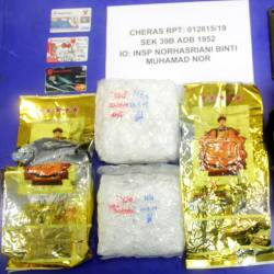 The drugs seized during the operation.