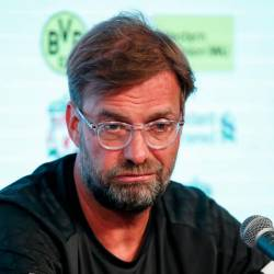 Liverpool F.C. manager Jurgen Klopp speaks during a press conference at Notre Dame Stadium in South Bend, Indiana on July 18, 2019. — AFP