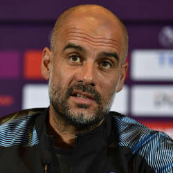 Coach for English Premier League club Manchester City, Pep Guardiola, takes part in a press conference one day before the final matches of the 2019 Premier League Asia Trophy football tournament in Shanghai on July 19, 2019. — AFP