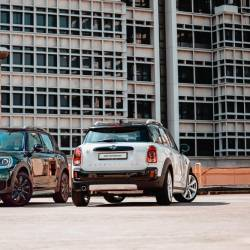 New MINI Cooper S Countryman Pure (left) and new MINI Countryman Plug-In Hybrid Wired.