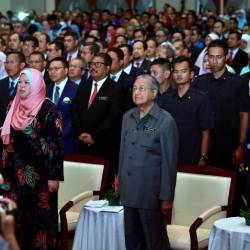 Prime Minister Tun Dr Mahathir Mohamad at the launch of the Rural Development Policy at the Putrajaya International Convention Center (PICC) on June 27, 2019. - Bernama