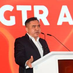 Transport Minister Anthony Loke Siew Fook delivers the opening speech at the after the launch of the GTR Air Cargo Hub in Sepang. - Bernama