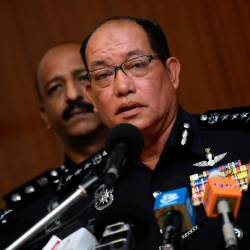 Federal police Internal Security and Public Order deputy director Commissioner Datuk Zainal Abidin Kasim speaks during a press conference on 'Ops Bersepadu Khazanah' at Bukit Aman today. - Bernama