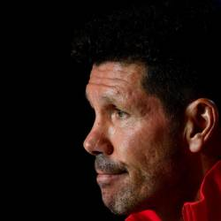 Atletico Madrid's Argentinian coach Diego Simeone gives a press conference at the Wanda Metropolitano stadium in Madrid on September 17, 2019 on the eve of the UEFA Champions League Group D football match against Juventus. — AFP