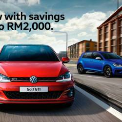 RM2,000 rebate for VW Golf GTI, R