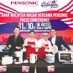 From left: Pensonic Group executive director Nelson Chew, Anak Malaysia Masak Bersama Pensonic artiste Izzue Islam, Pensonic Friend Dato' Chef Haji Ismail and Pensonic Group managing director Vincent Chew.