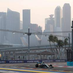 Pratice session for the Singapore Grand Prix at the Marina Bay Street Circuit in Singapore on Sept 21, 2019. — AFP