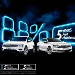 Additional 2 years free maintenance for VW Tiguan, Passat