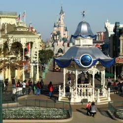 A sound 'probably caused by a lift or escalator' at Disneyland Paris caused a stampede among holidaymakers. — AFP