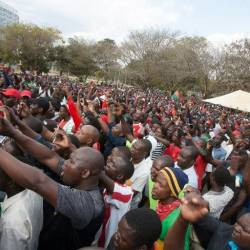 Nationwide protests in Malawi (pictured July 2, 2019) have resulted in nearly 70 people being arrested. — AFP