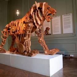 Leonardo da Vinci's famous mechanical lion on Wednesday went on display in Paris for a month. — AFP Relaxnews