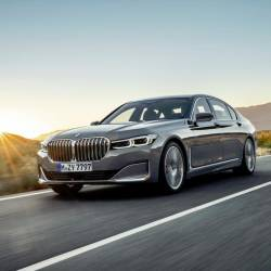 The new BMW 7 Series luxury saloon.