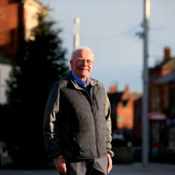 Ex-Labour Party MP for Blyth Ronnie Campbell poses in the market square in the town of Blyth in northeast England on Dec 13, 2019 the day after the former mining town voted in a Conservative MP for the first time in its history contributing to the Tory party's landslide victory. — AFP