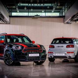 New MINI JCW Clubman 306HP (left) and new MINI JCW Countryman 306HP.