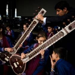 Some members of Afghanistan's first all-female orchestra Zohra have gone missing in Slovakia. — AFP