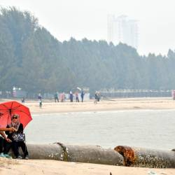 A deserted Pantai Klebang, Malacca, n this picture taken on Sept 15, 2019. — Bernama