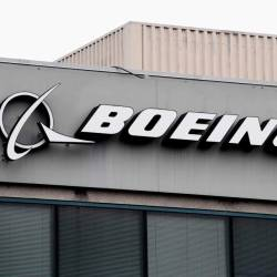 The Boeing Company logo is seen on a building in Annapolis Junction, Maryland. — AFP