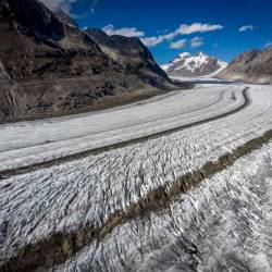 This file photo taken on Oct 1, 2019 shows the Aletsch glacier above Bettmeralp in the Swiss Alps. — AFP