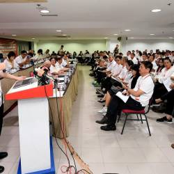 Finance Minister Lim Guan Eng, who is also DAP secretary-general, speaks during the opening of the 2019 Kuala Lumpur Federal Territories DAP Convention today. - Bernama