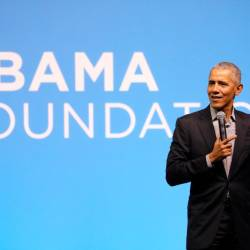 Former US President Barack Obama speaks during an Obama Foundation event in Kuala Lumpur, Dec 13, 2019. — Reuters