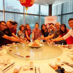 Mei Sim with her fans at the special Chinese New Year reunion luncheon.