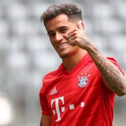 Bayern Munich unveils Philippe Coutinho during a presentation at Allianz Arena, Munich, Germany on Aug 19. — Reuters