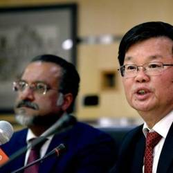 Penang Chief Minister Chow Kon Yeow (two, left). — Bernama