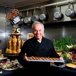 Celebrity Chef Wolfgang Puck poses in the kitchen while preparing the diner for the 91st annual Academy Awards Governors Ball, in Hollywood, on California — AFP
