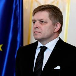 File photo shows Slovakia's Prime Minister Robert Fico reacts after a meeting of Slovakia's three top officials at the Bratislava castle, Bratislava, Slovakia on Mar 9, 2018. — Reuters