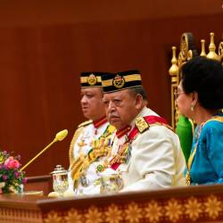 The Raja of Perlis Tuanku Syed Sirajuddin Jamalullail opening the Second Term Sitting of the 14th Perlis State Legislative Assembly. — Bernama