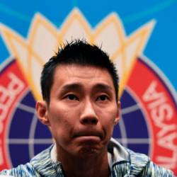 Malaysia's badminton player Lee Chong Wei attends a press conference in Kuala Lumpur on Nov 8, 2018. — AFP