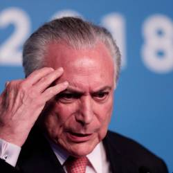 In this file photo taken on Nov 30, 2018 Brazil's President Michel Temer delivers a press conference on the first day of the G20 Leaders Summit in Buenos Aires. — AFP