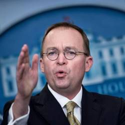 Trump taps budget head Mulvaney as acting chief of staff