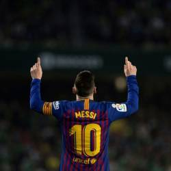 Lionel Messi celebrated the goal against Betis that is a candidate for the year's best. — AFP